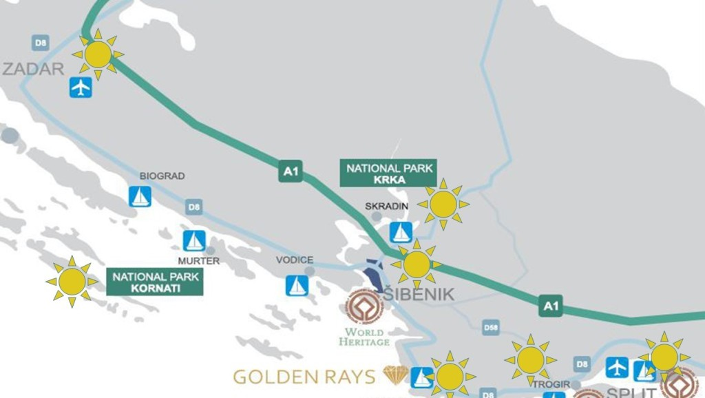 Location of Golden Rays Villas