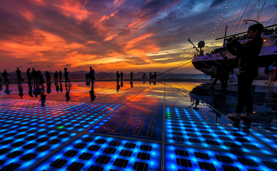 Greeting To The Sun in Zadar, Source; Zadar Tourism Office (zadar.hr)